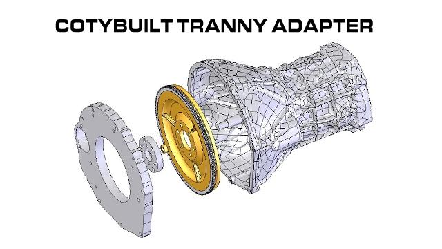Coty built Tranny Adapter